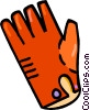 winter gloves Vector Clipart illustration