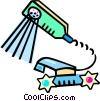 Vector Clip Art image  of a shower heads