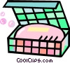 Vector Clip Art graphic  of a bar of soap