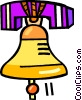 Vector Clipart graphic  of a ringing bell