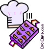 Vector Clipart graphic  of a chefs hat and cookie trays