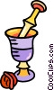Vector Clipart illustration  of a nuts and cups