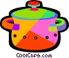 Vector Clip Art picture  of a cooking pots