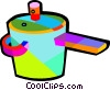 Vector Clipart graphic  of a cooking pots