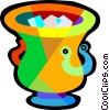 Vector Clipart illustration  of a ice bucket