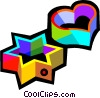 Vector Clip Art image  of a cookie cutters