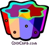 Vector Clip Art graphic  of a cake mould