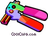 Vector Clip Art image  of a can opener