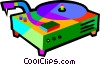 Vector Clip Art image  of a record player