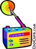 Vector Clip Art image  of a portable radio