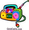 portable CD player Vector Clipart image