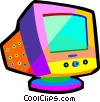 Vector Clipart picture  of a computer monitor