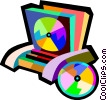 CD organizers Vector Clipart graphic