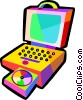 Vector Clipart illustration  of a lap top computer