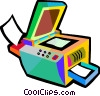 Vector Clipart graphic  of a photocopy machine