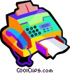 Vector Clipart image  of a Fax machine