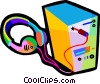 Vector Clipart picture  of a stereo
