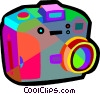 Vector Clip Art graphic  of a digital camera