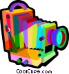 Vector Clipart graphic  of an antique camera
