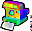 Vector Clipart graphic  of a Polaroid camera