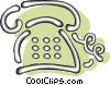 Vector Clipart image  of a telephones