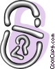Vector Clipart graphic  of a padlocks