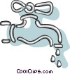Vector Clip Art graphic  of a taps