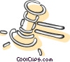 Vector Clipart graphic  of a gavel