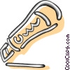 Vector Clipart graphic  of a exacto knives