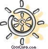 helm of a ship Vector Clip Art graphic