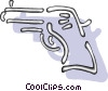 Vector Clipart graphic  of a gun