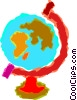 Vector Clip Art graphic  of a world globes
