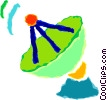 Vector Clipart illustration  of a satellite dish