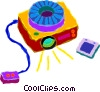 slide projectors Vector Clipart illustration