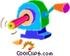 pencil and pencil sharpener Vector Clipart illustration