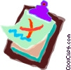 Vector Clipart image  of a clipboard