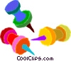 pushpins Vector Clip Art picture