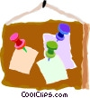 letters on a bulletin board Vector Clipart image