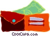 Vector Clip Art graphic  of a wallet with money in it