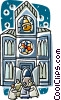 church cathedrals Vector Clipart illustration