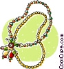 Vector Clip Art graphic  of a Christmas beads
