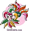 jesters and head dresses Vector Clipart picture