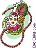 Vector Clipart graphic  of a beads and head dresses