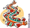 Vector Clipart graphic  of a Chinese paper dragons