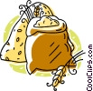 Vector Clipart graphic  of a bag of wheat