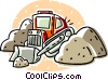 Vector Clipart image  of a bulldozer