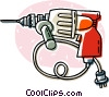 Vector Clipart illustration  of a power drills