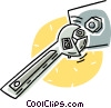 monkey wrench Vector Clipart illustration