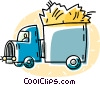 Vector Clipart illustration  of a transport truck