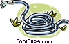 Vector Clipart illustration  of a garden hose